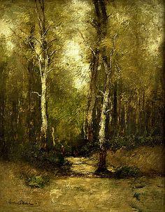 Paál László: Jegenyék közt, 1875