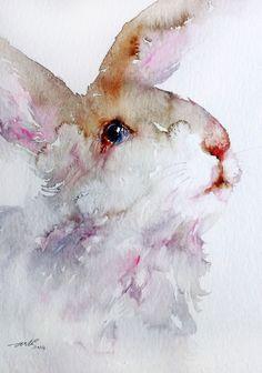 Woolly theWhite Rabbit by Arti Chauhan | Artfinder