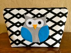 Extra Large Applique Cosmetic and Makeup Bag in by BetweenTheWines, $25.00