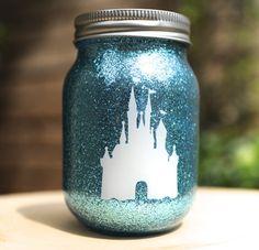cinderella inspired mason jar diy