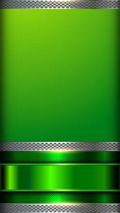 Green & Metallic Wallpaper