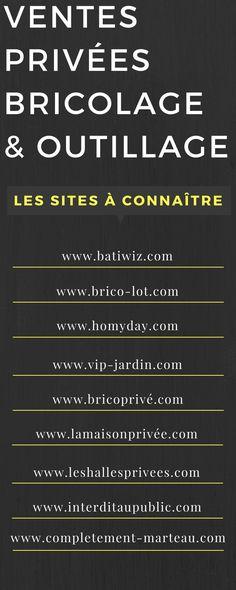 Ma Liste des Sites de Ventes Privées Bricolage & Outillage (parfait pour se lancer en DIY)  http://www.homelisty.com/vente-privee-bricolage-outillage/