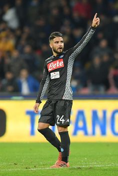 Player of SSC Napoli Lorenzo Insigne celebrates the victory after the Serie A match between SSC Napoli and AC Milan at Stadio San Paolo on November 18, 2017 in Naples, Italy.