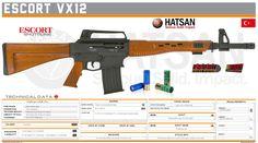 Hatsan Arms Company - Escort VX12 Military Service, Military Weapons, Weapons Guns, Shotguns, Firearms, M4 Carbine, Tactical Shotgun, Hand To Hand Combat, Ideas