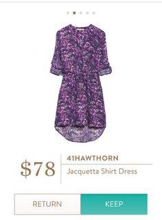 Love this, Tiff! 41 hawthorn jacquetta shirt dress