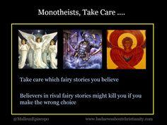 Monotheists, take care …. Doubting Thomas, Free Thinker, Atheism, Take Care, Christianity, Religion, Thoughts, Ideas