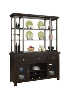 Del Ray Casual Dark Brown Wood Buffet