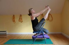 16 best iyengar yoga chair seated poses images  iyengar