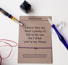 Friendship bracelet Nemo Bracelet gift card by GraceOfBrace