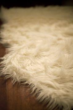 SWEDEN: Scandinavian style- sheepskin rug.
