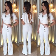 image White Outfits, Stylish Outfits, Fashion Outfits, Womens Fashion, Casual Dresses, Short Dresses, Fashion 2018, Fashion Trends, Vetement Fashion