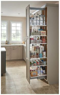 Rev A Shelf Rev-A-Shelf 5300 Series 8 Inch by 74 Inch Tall Two Tier Pull Out Pantry Maple Tall Cabinet Organizers Pull Out Pantry Organizers Pull Out - Own Kitchen Pantry Diy Kitchen, Kitchen Storage, Kitchen Decor, Kitchen Cabinets, Kitchen Ideas, Tall Cabinets, Upper Cabinets, Sage Kitchen, Kitchen Inspiration