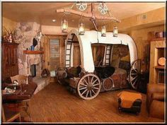 Fun western bedroom