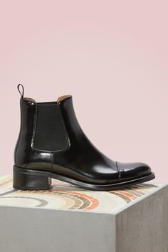 CHURCH'S NERINA LEATHER ANKLE BOOTS. #churchs #shoes #