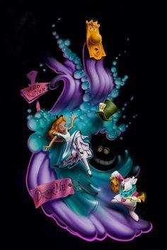 Alice in Wonderland Tim Burton, Disney Love, Disney Magic, Walt Disney, Alice In Wonderland Tattoo Sleeve, Lewis Carroll, Alice In Wonderland Pictures, Alice Tattoo, Fantasia Alice