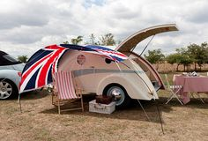 Tilly the teardrop caravan - hand built to order from The English Caravan Company.  Want the Union flag awning too!