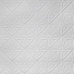 Deco Paradiso (RD576) - Anaglypta Wallpapers - An all over plain wallcovering with a textured geometric diamond design. This wallcovering is white and is designed to be painted a colour of your choice. Please request a sample for a true texture match.  64cm pattern repeat.