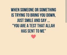 Life is a test.Alhumdulilah for everything ♥ Muslim Quotes, Islamic Quotes, Islam Religion, Allah Islam, Bettering Myself, Just Smile, Meaningful Quotes, When Someone, Helping Others