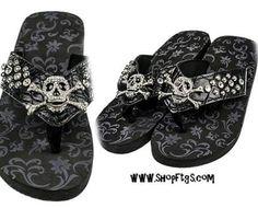 11043a2dcbe 8 Best Skull Sandals images