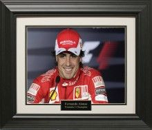 Fernando Alonso Photo Matted and Framed