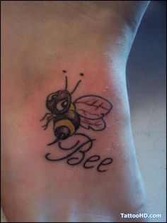 Bee Tattoo On Man Wrist