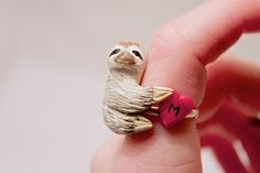 Sloth Ring by curiousburrow.  Love this.