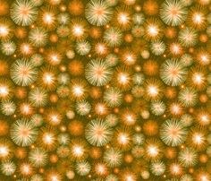 Atomic flowers - Tangerine fabric by hollywood_royalty on Spoonflower - custom fabric