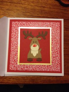 Red nose Christmas card