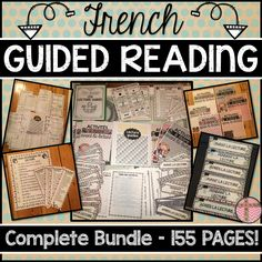 This French Guided Reading Package includes everything you need to set up your Guided Reading Program in a Primary French Immersion classroom. The package includes a variety of activities and templates that can easily be adapted for Grades 1-3. Many of the activities and prompts can be used before, during or after reading. This is most appropriate for students in Grades 1-3 French Immersion, but can be used up to Grade 6 in French Core and French Extended programs.