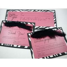 Mary kay consultant or director business cards frequent buyer mary kay birthday certificates mary kay consultants the hot pink feather set by findyourhappyheart reheart Image collections