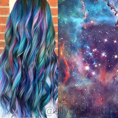 GALAXY MERMAID @modernsalon #modernsalon #haircolor