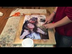 How to Mod Podge a Picture to a Wooden Canvas Picture On Wood Diy, Picture Transfer To Wood, Wood Transfer, Photo On Wood, Photo Craft, Diy Photo, Pallet Pictures, Mod Podge Crafts, Diy Canvas