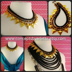 Trendy necklaces.. Handmade. Www.conceptsbyarlette.etsy.com