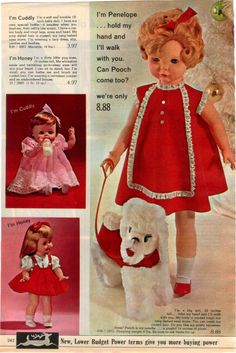 1965 Spiegel Dolls, Maker Unknown with Cuddly, Honey and Penelope