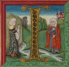 Illuminated Manuscript, Bible (part), Naomi and Ruth, Walters Manuscript W.805, fol. 155v by Walters Art Museum Illuminated Manuscripts, via Flickr