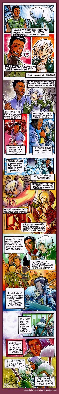 *ffffffuuuuuuu feels* - Fenris and Hawke Comic by aimo.deviantart.com on @DeviantArt