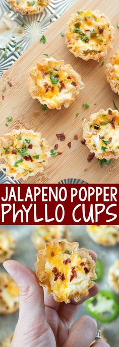 Baked Jalapeno Popper Phyllo Cups - Easy to make and even easier to eat, these baked jalapeno popper phyllo cups are the ULTIMATE appetizer!