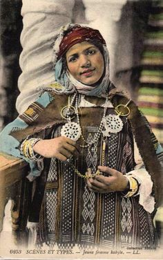 "Africa | ""A Young Kabyle Woman"". Algeria  ca.  1916 