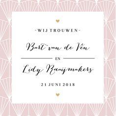 #chique #ontwerpen #artdeco #trouwkaart #trouwuitnodiging #trouwen #lace #bruiloft #wedding #bruid #huwelijk #bruidspaar