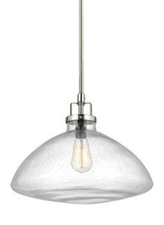 6614501-962,One Light Pendant,Brushed Nickel
