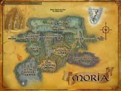 Map of Moria - LOTR