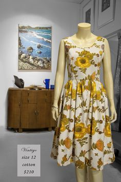 New dress, made by us in Wellington, from some awesome medium weight vintage cotton