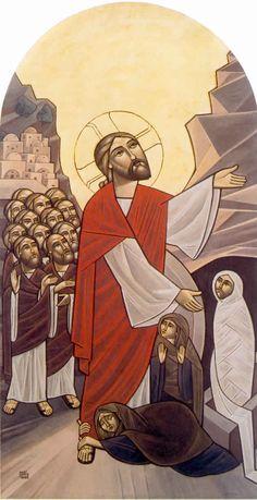 Icône de la résurrection de Lazare