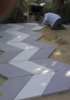 STONE makes concrete pavers and architectural products in Melbourne Victoria using locally sourced materials. Outdoor Patio Pavers, Backyard Patio, Ideas Terraza, Paving Pattern, Pattern Concrete, Paver Designs, Paving Design, Paving Ideas, Backyard Renovations