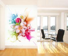 Eazywallz  - Modern Floral Design Wall Mural, $119.00 (http://www.eazywallz.com/modern-floral-design-wall-mural/)