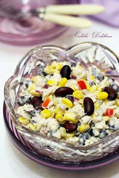 ARABESKA II: Sałatka ryżowa z kurczakiem i czerwoną fasolą