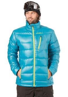O'Neill Pmex Jones Packable Down - Snowboard Jacket for Men - Blue - Planet Sports Hot Sexy Ski Gay Man Guy Hunk Eye Candy