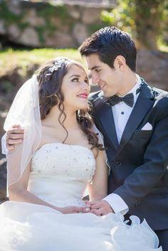 Sesión formal de los novios el día de la boda <3 ¡Mira aquí esta boda completa!