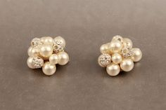 BRIDAL EARRING Wedding Jewelry Pearl and by CamillaChristine