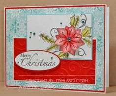 @Melissa Cash  created this GOREGOUS Christmas card using tombow adhesives!